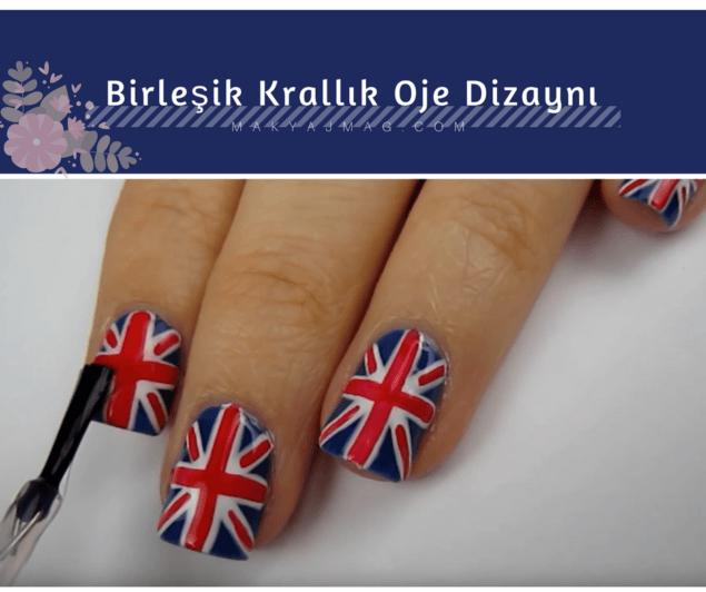 Birleşik Krallık Bayrağı Oje Dizaynı