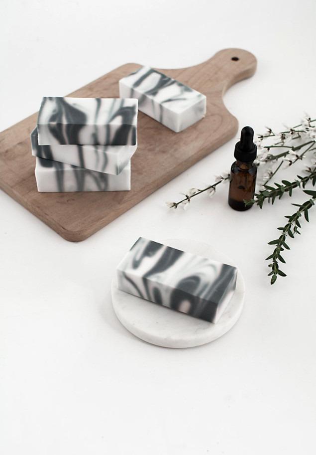 Mermer Tasarımlı Ev Yapımı Sabun — DIY Sabun